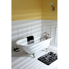 Load image into Gallery viewer, Kingston Brass Aqua Eden 60-Inch Cast Iron Roll Top Clawfoot Tub with 3-3/8 Inch Wall Drillings