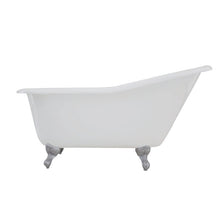 Load image into Gallery viewer, Kingston Brass Aqua Eden 60-Inch Cast Iron Single Slipper Clawfoot Tub (No Faucet Drillings)