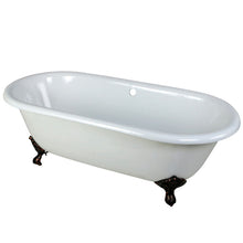 Load image into Gallery viewer, Kingston Brass Aqua Eden 66-Inch Cast Iron Double Ended Clawfoot Tub (No Faucet Drillings)