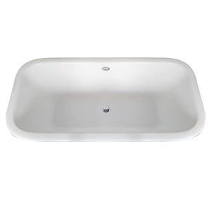Kingston Brass Aqua Eden 67-Inch Cast Iron Double Ended Clawfoot Tub (No Faucet Drillings)