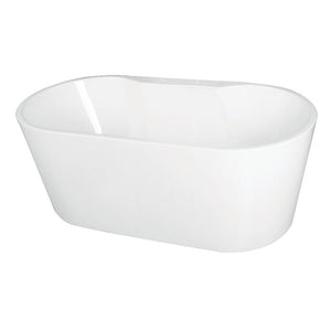 Kingston Brass Aqua Eden 59-Inch Acrylic Freestanding Tub with Deck for Faucet Installation