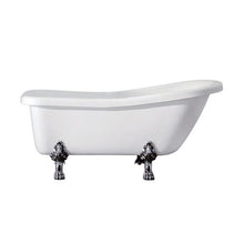 Load image into Gallery viewer, Kingston Brass Aqua Eden 67-Inch Acrylic Single Slipper Clawfoot Tub with Reversible Drain and 7-Inch Faucet Drillings