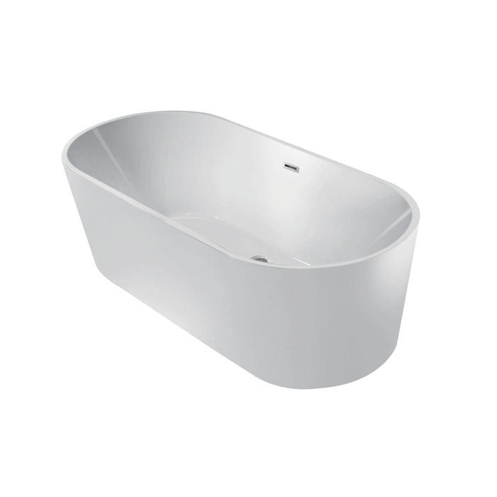 Kingston Brass Aqua Eden 60-Inch Acrylic Double Ended Freestanding Tub with Drain
