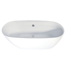 Load image into Gallery viewer, Kingston Brass Aqua Eden 67-Inch Acrylic Double Ended Freestanding Tub with Drain