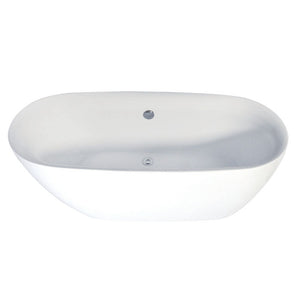 Kingston Brass Aqua Eden 67-Inch Acrylic Double Ended Freestanding Tub with Drain