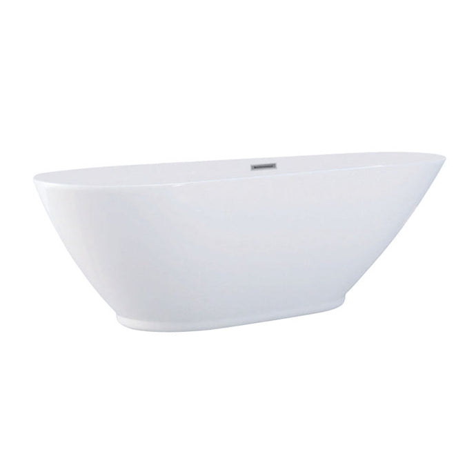 Kingston Brass Aqua Eden 69-Inch Acrylic Double Ended Freestanding Tub with Drain