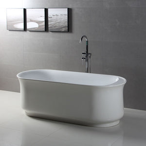 Kingston Brass Aqua Eden 66-Inch Acrylic Double Ended Freestanding Tub with Reversible Drain