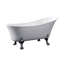 Load image into Gallery viewer, Kingston Brass Aqua Eden 51-Inch Acrylic Single Slipper Clawfoot Tub (No Faucet Drillings)