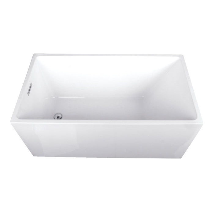Kingston Brass Aqua Eden 51-Inch Acrylic Freestanding Tub with Reversible Drain and Drain Assembly