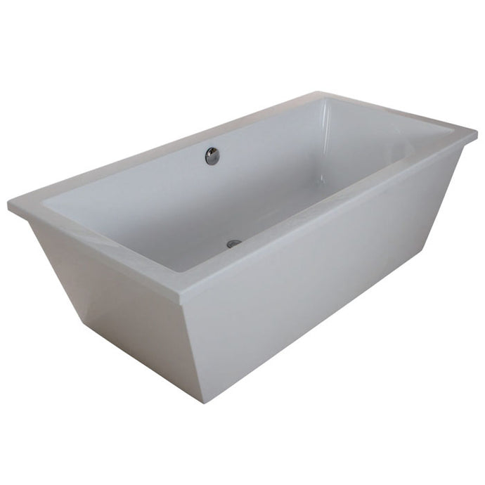 Kingston Brass Aqua Eden 66-Inch Acrylic Double Ended Freestanding Tub with Drain