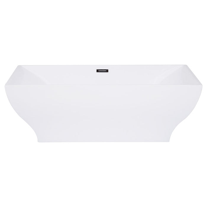 Kingston Brass Aqua Eden 67-Inch Acrylic Freestanding Tub with Center Drain