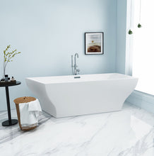 Load image into Gallery viewer, Kingston Brass Aqua Eden 67-Inch Acrylic Freestanding Tub with Center Drain