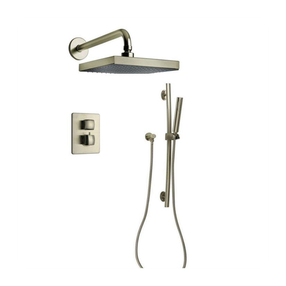 LaToscana Lady Thermostatic Shower with 2-Way Diverter Volume Control and Slide Bar