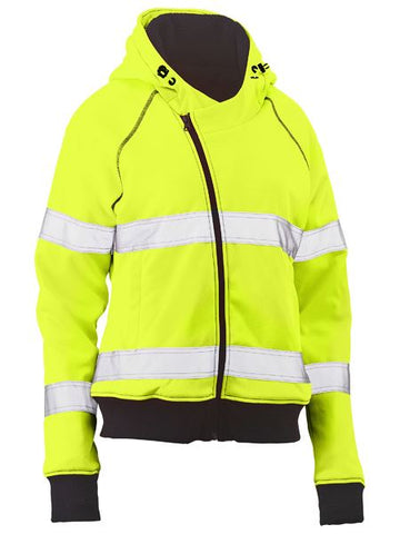 WOMENS TAPED HI VIS FLEECE HOODIE
