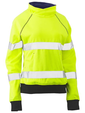 WOMENS TAPED HI VIS FLEECE JUMPER