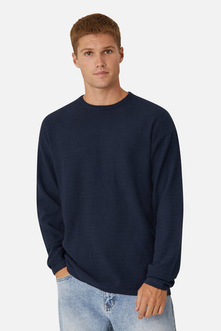 THE ARIES KNIT - SOLID NAVY