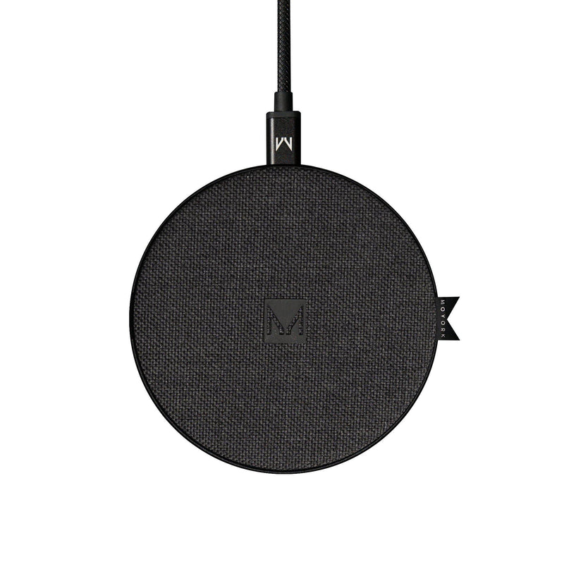 watt | 10W QI Fast Wireless Charging Pad Jersey Grey Fabric - MOYORK CO