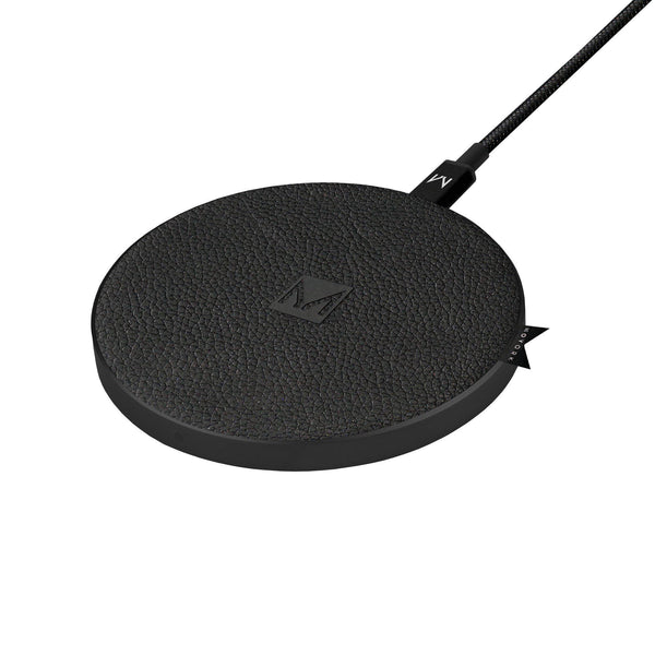watt | 10W QI Fast Wireless Charging Pad Raven Black Leather - MOYORK CO