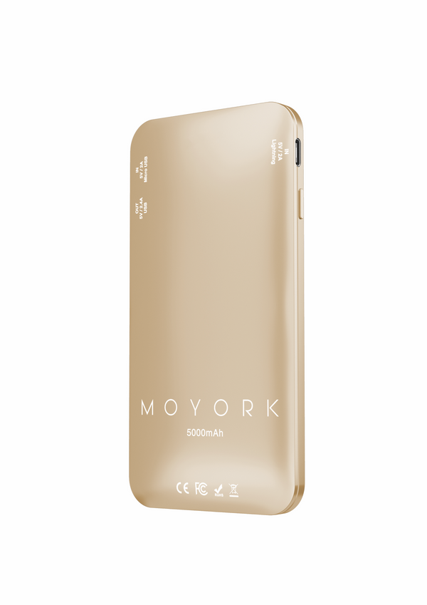 lumo 5000mAh power bank</br>dubai gold - MOYORK CO