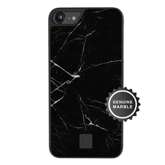 stone | marble case</br>raven black | iPhone 8/7/6s/6 - MOYORK CO