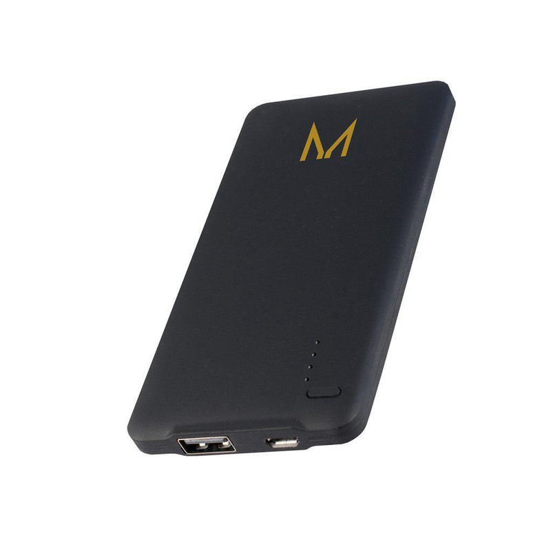 watt | 4000mAh charge clutch with strap | raven black cowhide - MOYORK CO