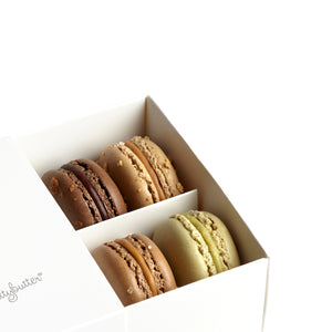 The Nuttybutter box of 10 macarons. A macaron gift box everyone loves.