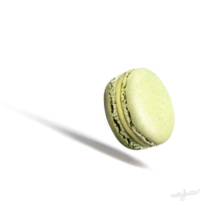 Nuttybutter's delicious Sicilian pistachio macaron. All natural and organic, a soft, chewy and delicious macaron.