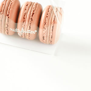 Three of Nuttybutter's hazelnut macarons.