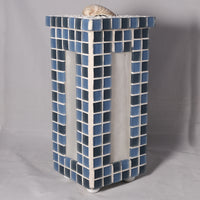 Lamp - Blue glass with shell - Melanie - MH Studios