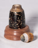 Pet urn - Resin and wood particles, spalted maple, mahogany and a gold pearlex resin top - Melanie - MH Studios