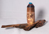 Pet urn - Spalted Maple, Leopard wood, with pearly pink resins on a Maple base, Resin top
