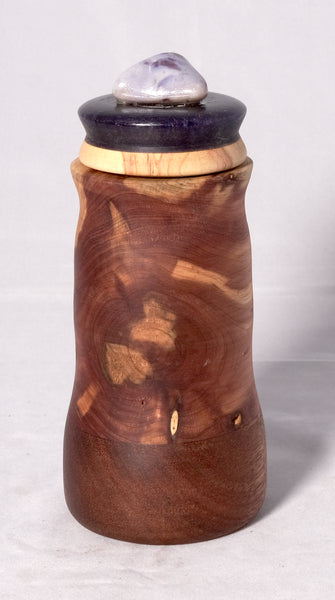 Pet urn - Cedar, Mahogany with a dark purple resin and Ambrosia Maple top - Melanie - MH Studios