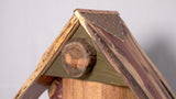 Birdhouse  - Live edge Lebanon Cedar roof and face with leather and stone accents - Melanie - MH Studios