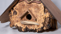 Birdhouse  - Live edge Cherry Roof and Live edge Maple Burl Face - Melanie - MH Studios