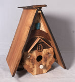 Birdhouse  - Cherry Burl / Cherry roof and ridge line - Melanie - MH Studios