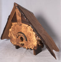 Birdhouse  - Live edge Cherry Roof and Maple Burl Face - Melanie - MH Studios