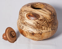 Spalted Maple with a pear top and a tigers eye stone - Melanie - MH Studios