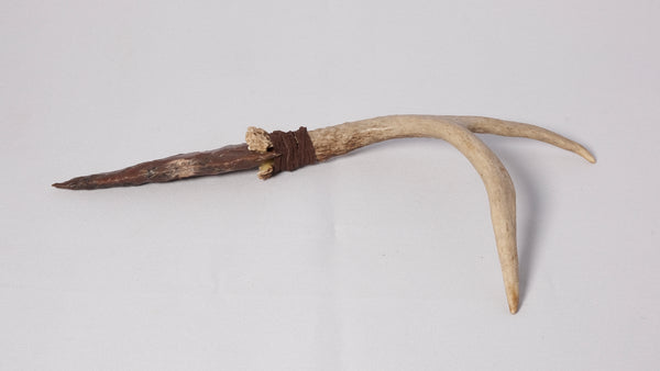 Antler Handle with Tynes and Stone Arrowhead #1