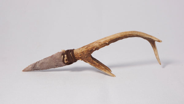 Antler Handle with Tynes and Stone Arrowhead #4