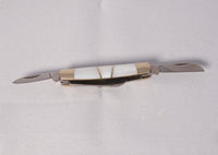 Knife - Tiny 4 Blade knife with Mother of Pearl and silver with Case - Melanie - MH Studios