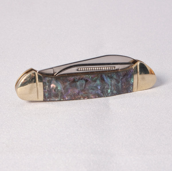 "Knife - Abalone with high polished chrome and 2.75"" long - Melanie - MH Studios"