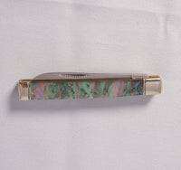 "Knife - Abalone with high polished chrome and 3.5"" long - Melanie - MH Studios"