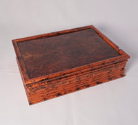 Box - Copper patina & Walnut Burl with Jewelry Dividers Inside - Melanie - MH Studios