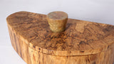 Box - Spalted Maple Half moon shape with Resin Handle - Melanie - MH Studios