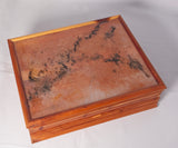 Box - Cedar and Resin with Jewelry Dividers Inside - Melanie - MH Studios