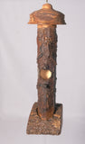 Small Birdhouse - Hummingbird House - Bamboo with Sculpted face, Log parts and Spalted Maple - Melanie - MH Studios