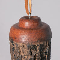 Small Birdhouse - Hummingbird House - Bamboo with Textured body, with Zebra wood and Mahogany