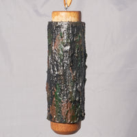 Small Birdhouse - Hummingbird House - Bamboo with Sculpted Surface / Painted black and brown - Melanie - MH Studios