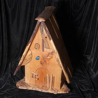 Clock House - Spalted Maple with bronze clock hands - Melanie - MH Studios