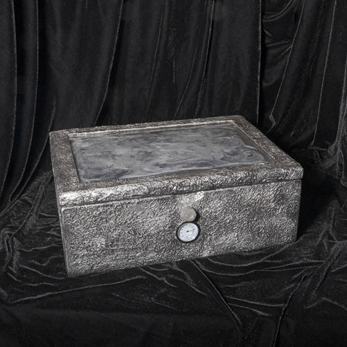 Antique looking Silver Humidor - Melanie - MH Studios